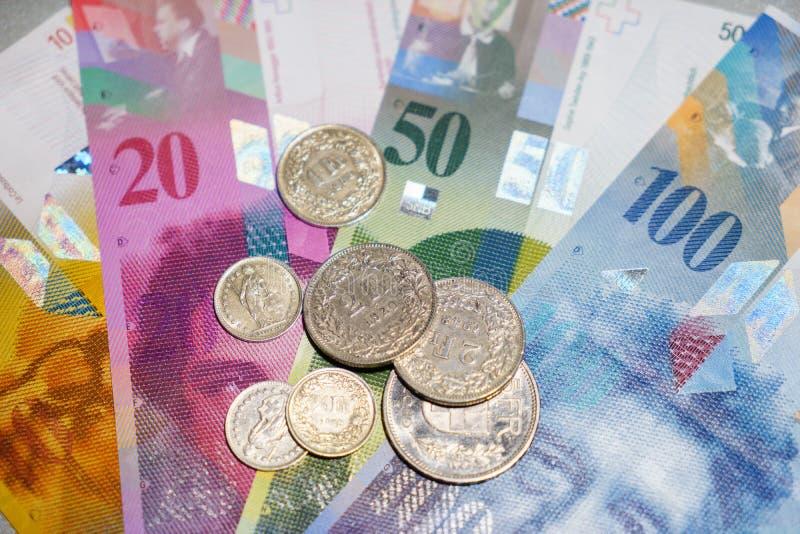 Dinero suizo fotografía de archivo libre de regalías
