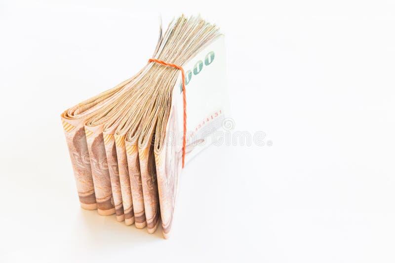 Dinero tailandés aislado imágenes de archivo libres de regalías