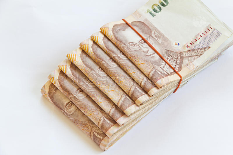 Dinero tailandés aislado imagen de archivo