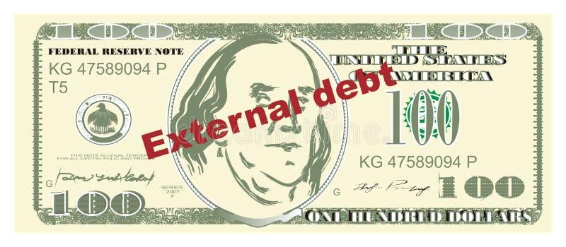 Dinero y deuda exterior ilustración del vector