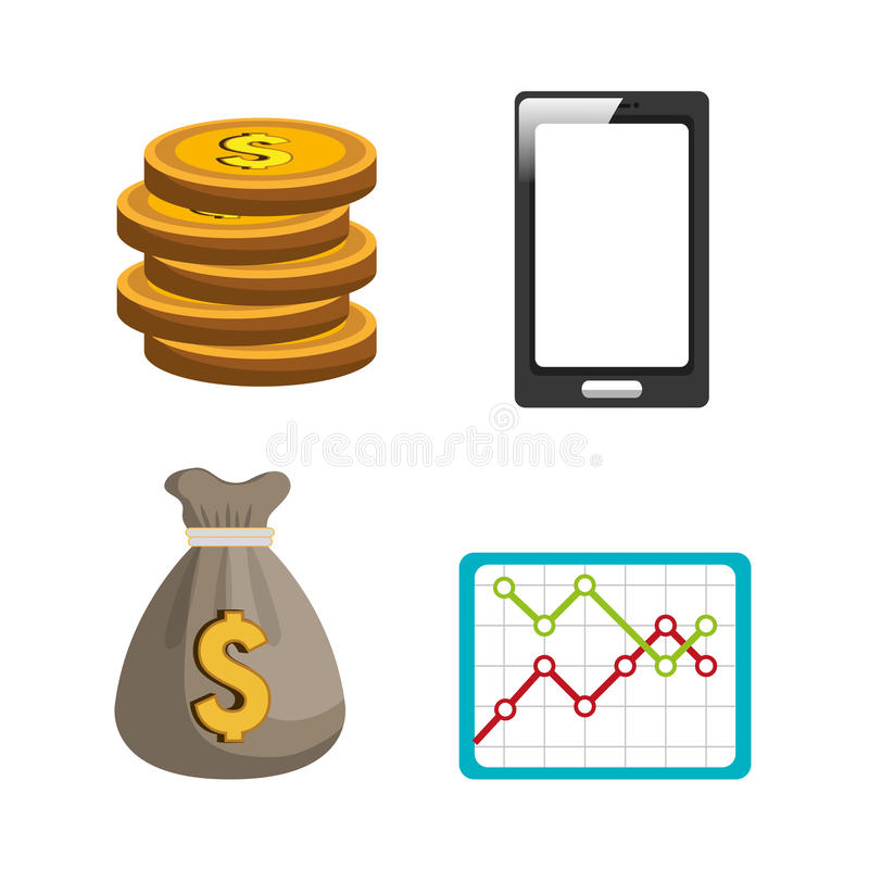 Dinero y economía global libre illustration