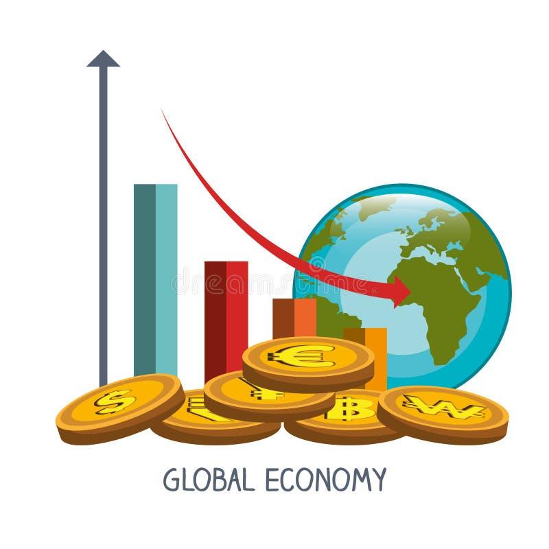Dinero y economía global ilustración del vector
