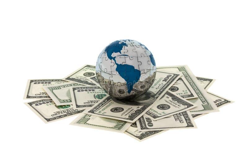 Dinero y globo imagenes de archivo
