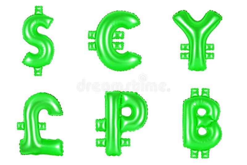 Dinero y moneda, color verde stock de ilustración
