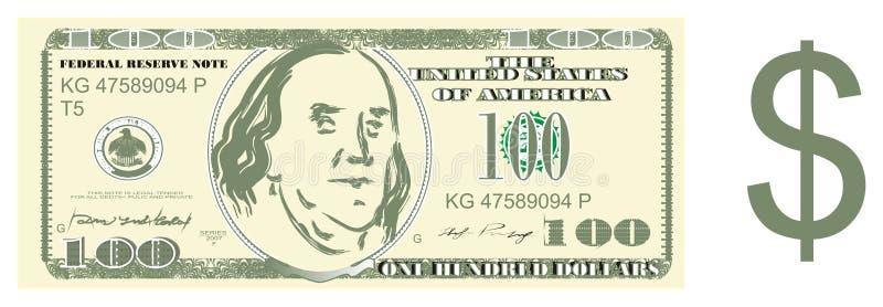 Dinero y muestra del dólar stock de ilustración