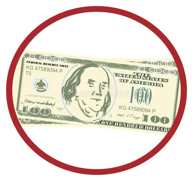 Dinero y muestra roja libre illustration