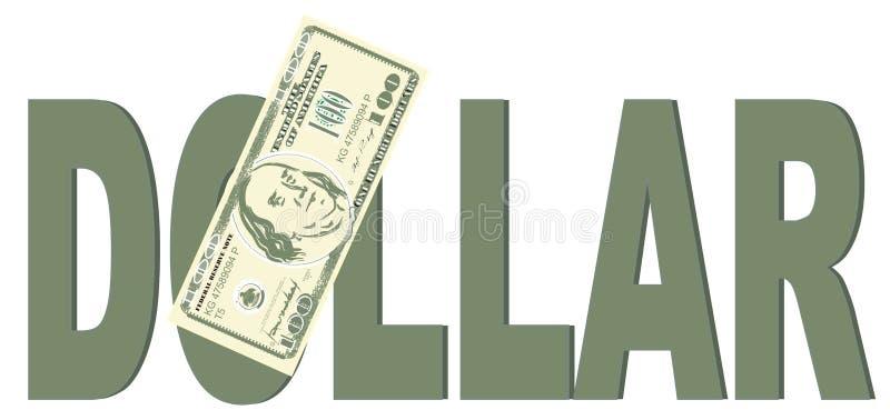Dinero y palabra grande ilustración del vector