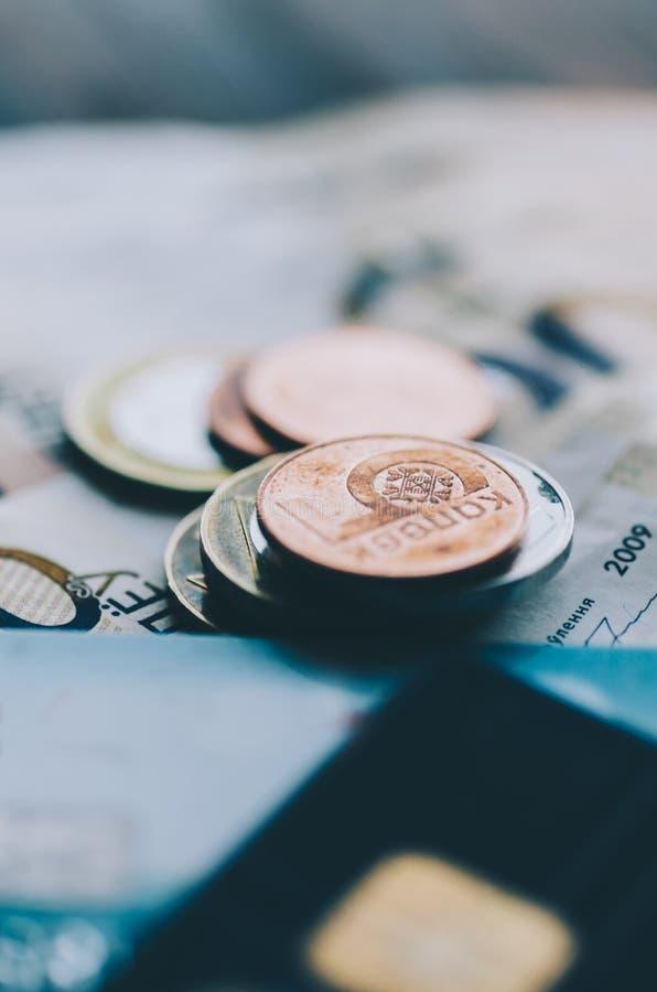 Dinero y tarjeta imágenes de archivo libres de regalías