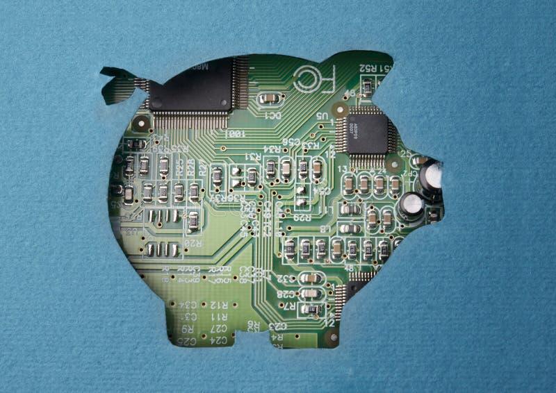 Dinero y tecnología imagenes de archivo