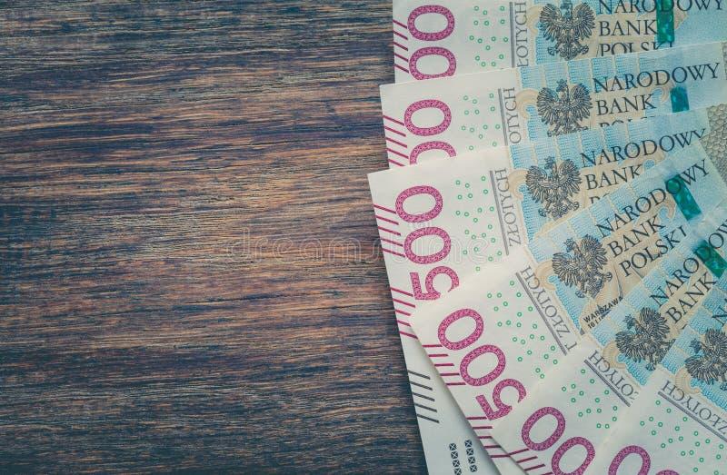 Dinero/zloty polaco/la denominación más alta fotografía de archivo libre de regalías