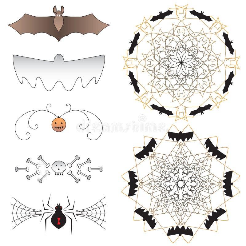 Dingbats de Halloween ilustração do vetor