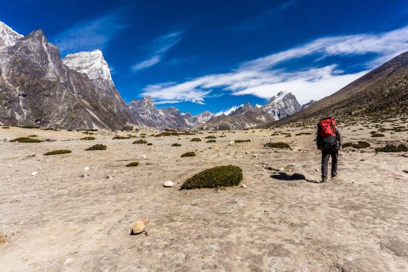 Dingboche to Lobuche, Nepal stock photography