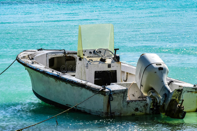 Dinghy. On Caribean Island Beach stock images