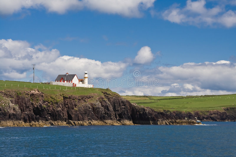 Dingle lighthouse. The lighthouse in Dingle, Ireland stock photography