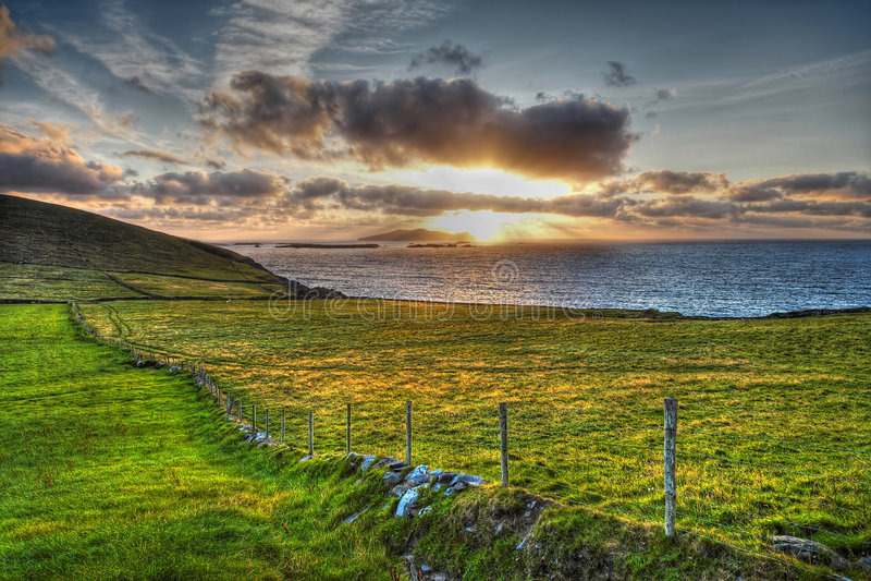 Download Dingle Peninsula stock photo. Image of sunset, seascape - 4604166