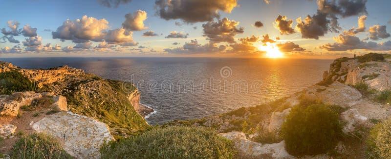 Dingli Cliffs Malta fotografie stock libere da diritti