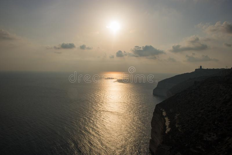 Dingli-Klippen bei Sonnenuntergang stockfoto