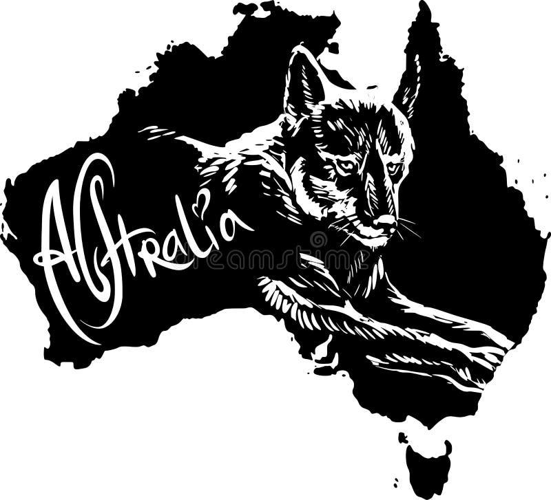 Dingo ως αυστραλιανό σύμβολο απεικόνιση αποθεμάτων