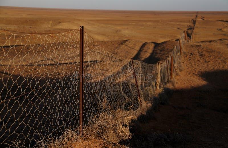 'Dingostaketet Coober Pedy, södra Australien arkivbild