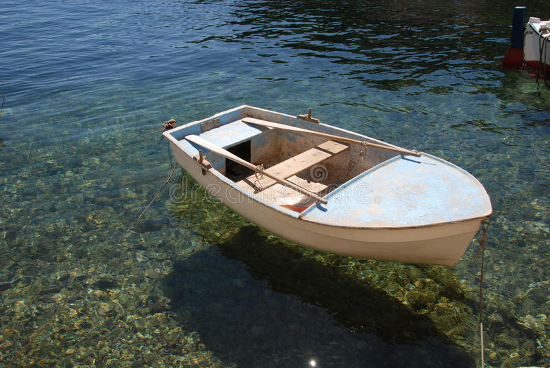Dingy in the Croatian Adriatic stock image