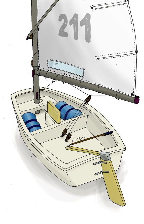 Dingy Sailboat stock photo