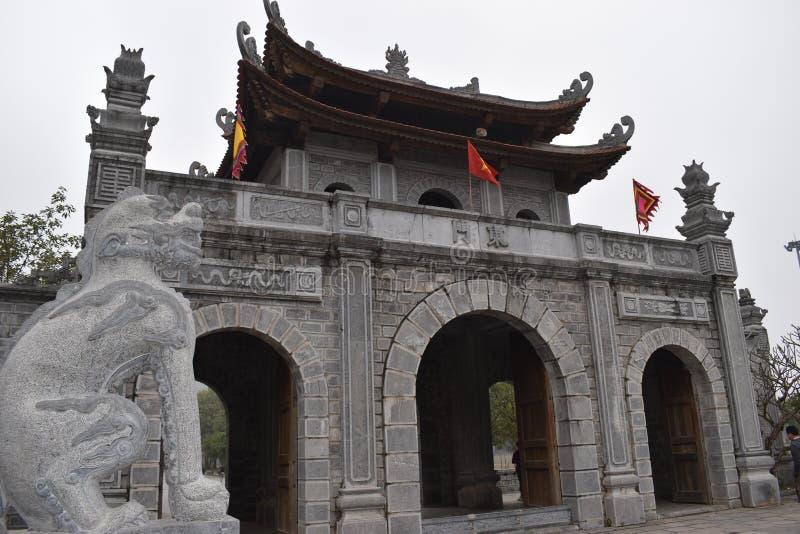 Dinh和李朝代的Hoa Lu寺庙在Ninh Binh附近的在越南,亚洲 图库摄影