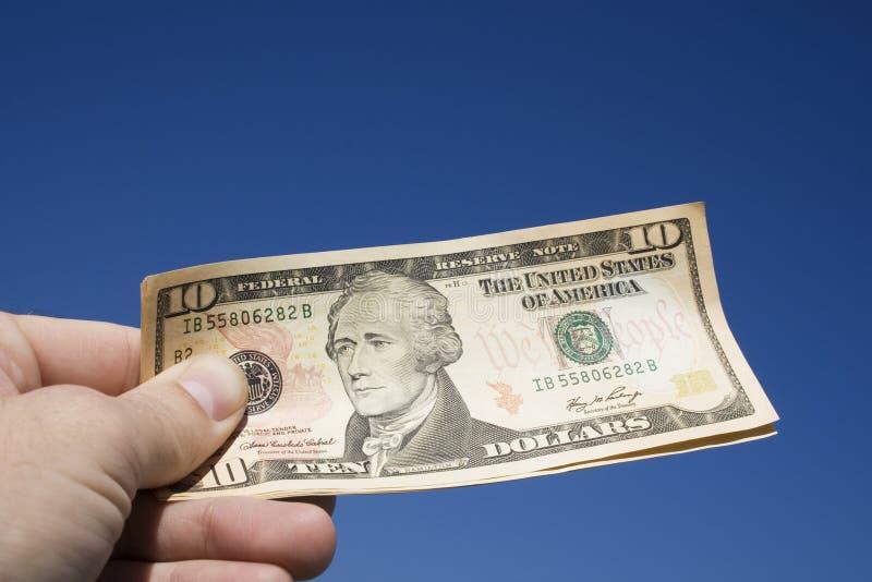 Dinheiro à disposicão imagens de stock royalty free