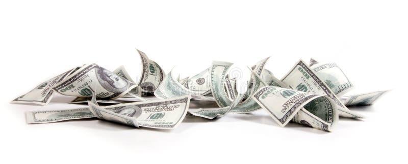Dinheiro, 100 dólares imagens de stock