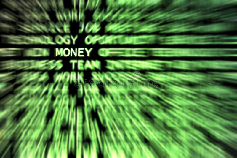 Dinheiro! ilustração do vetor