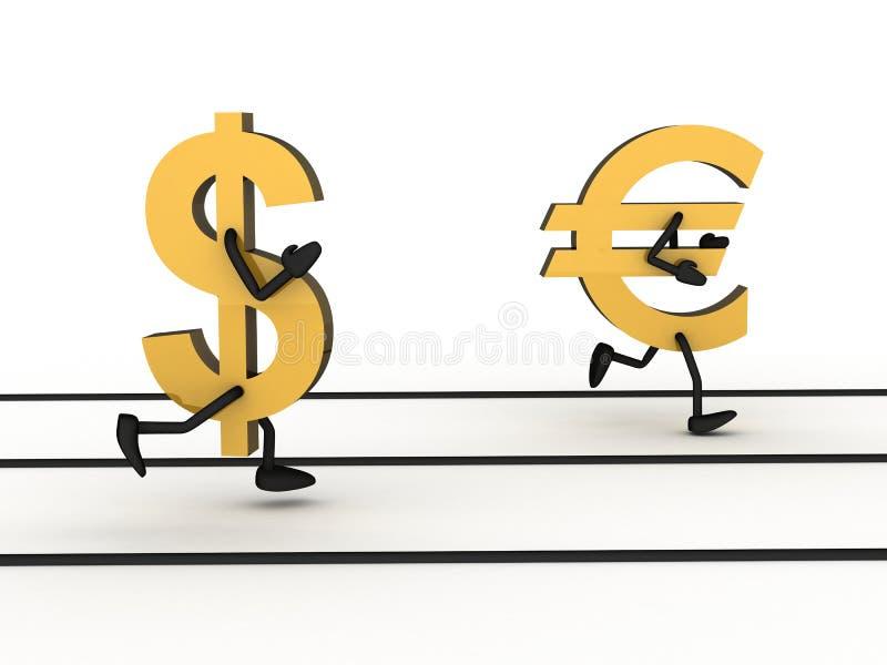 Dinheiro abstrato do sprint ilustração stock
