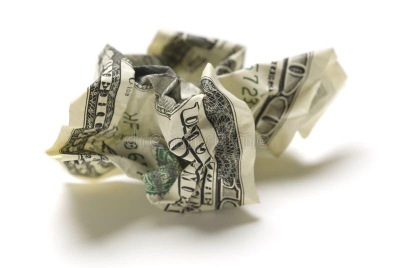 Dinheiro americano amarrotado imagens de stock royalty free