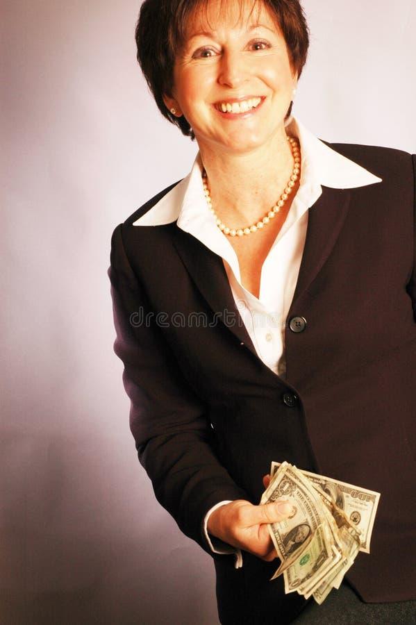 Dinheiro aqui 2173 fotografia de stock