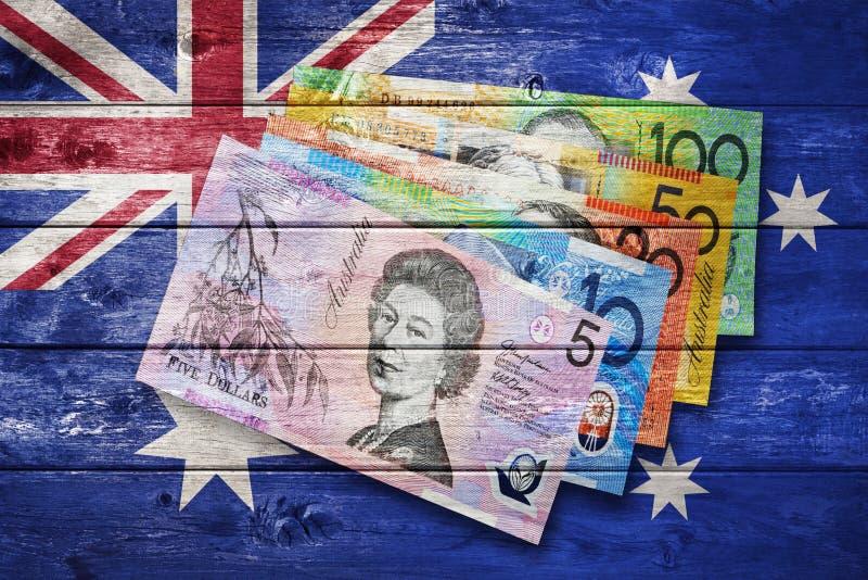 Dinheiro australiano da bandeira imagens de stock royalty free