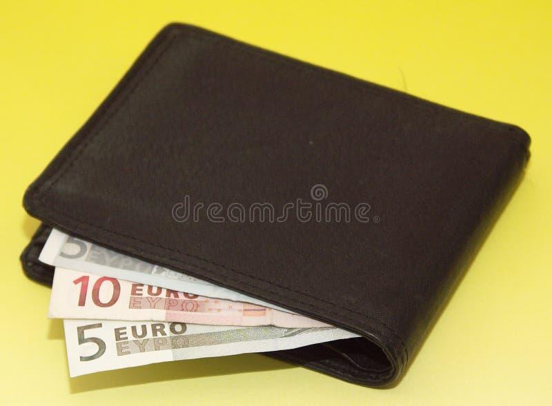 dinheiro-bolsa foto de stock