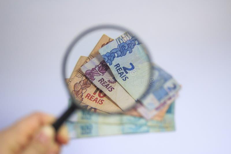 Dinheiro brasileiro do tipo real do dinheiro imagens de stock royalty free