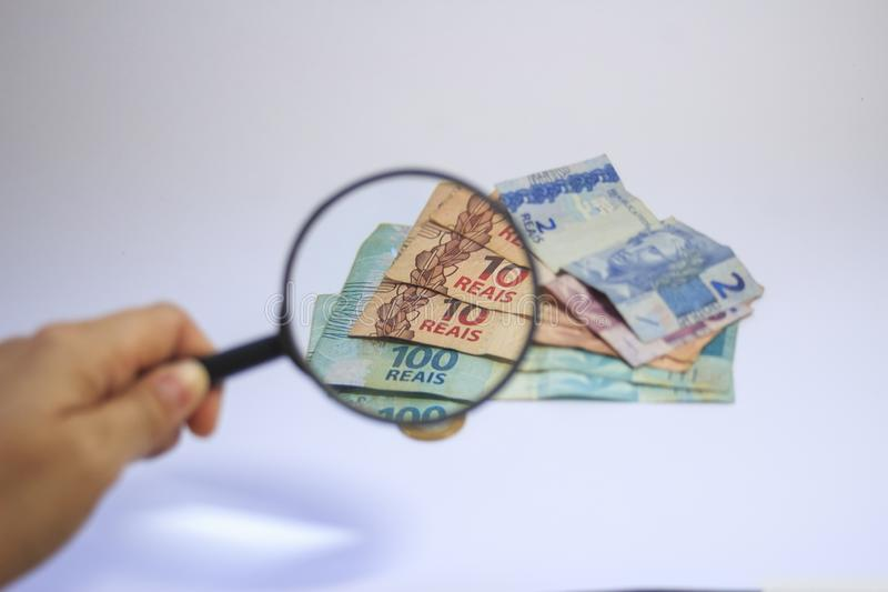 Dinheiro brasileiro do tipo real do dinheiro fotos de stock royalty free