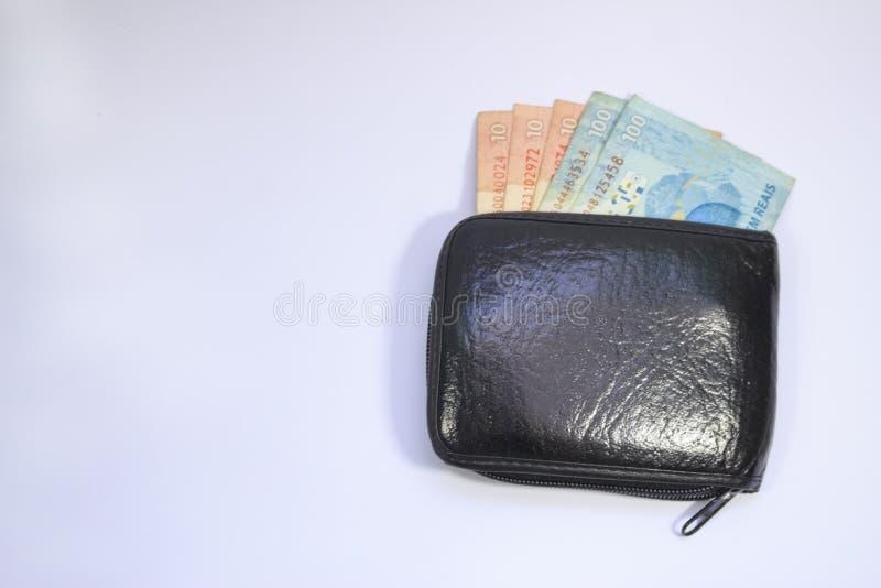 Dinheiro brasileiro do tipo real do dinheiro foto de stock