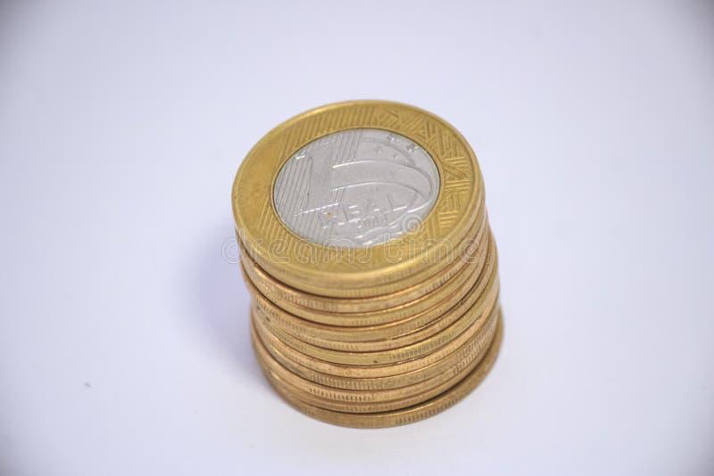 Dinheiro brasileiro do tipo real do dinheiro foto de stock royalty free