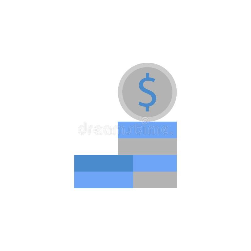 Dinheiro, centavo, moeda, moeda, ícone azul do dinheiro e cinzento de duas cores ilustração stock