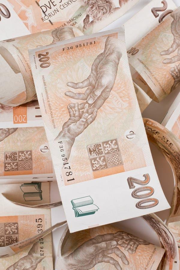 Dinheiro checo imagem de stock