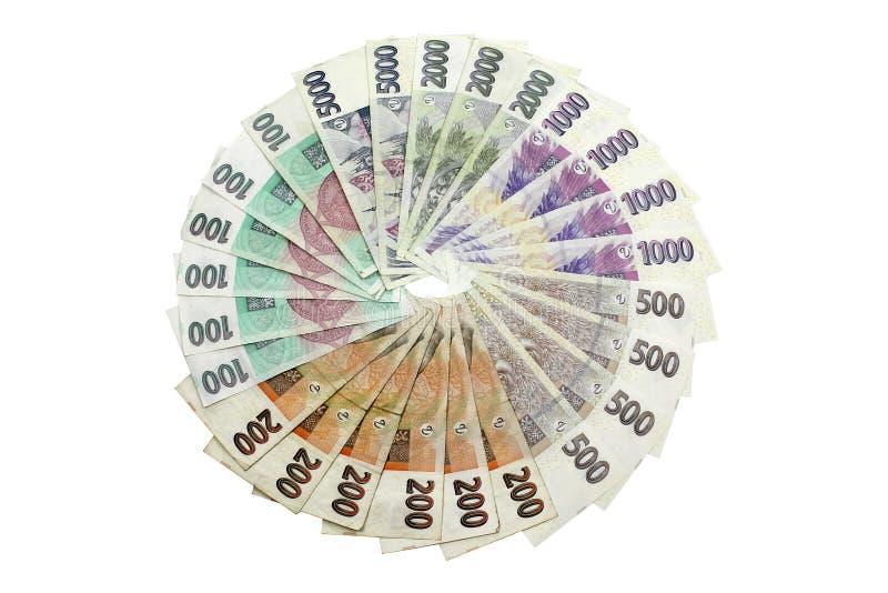 Dinheiro Checo imagens de stock royalty free