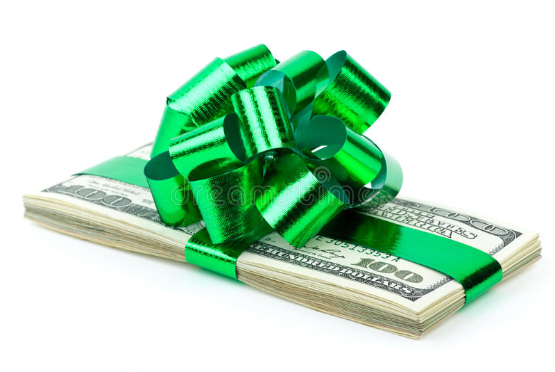 Dinheiro como um presente fotos de stock