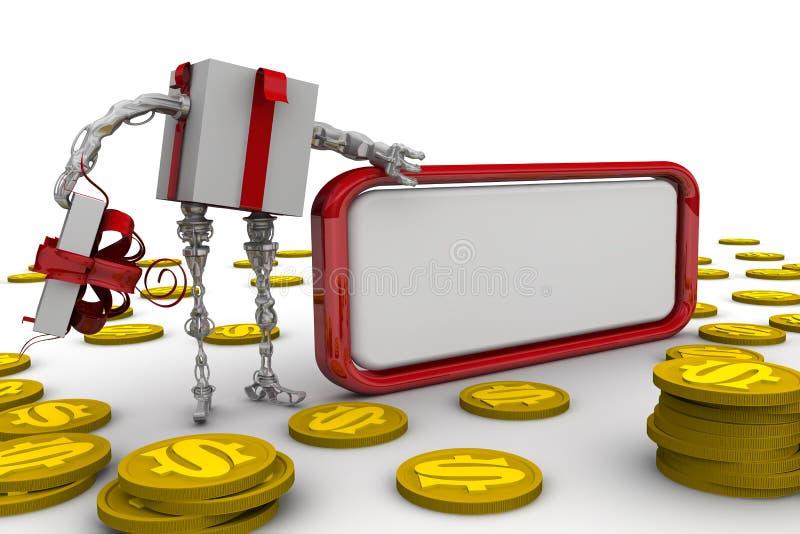 Dinheiro como um presente ilustração royalty free