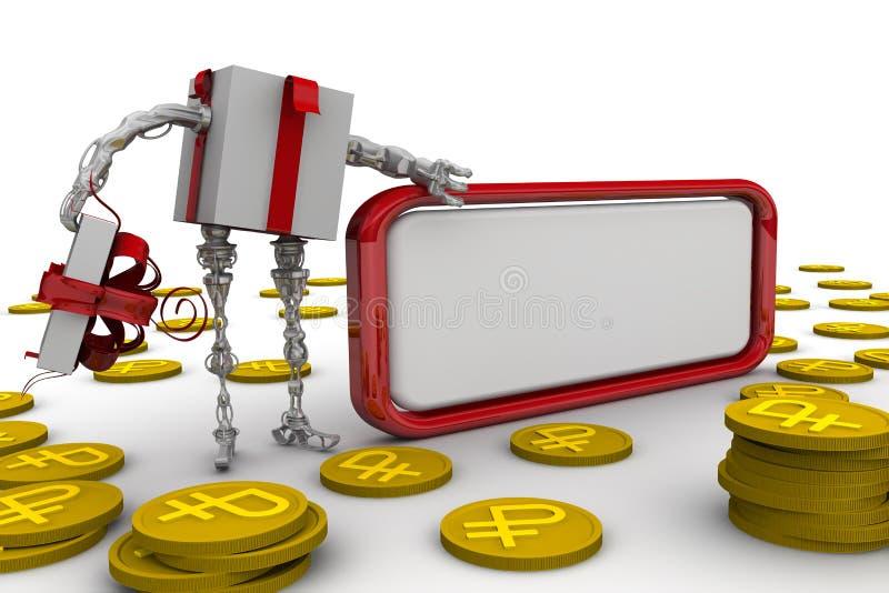 Dinheiro como um presente ilustração do vetor