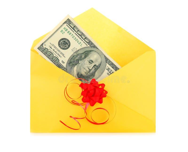 Dinheiro como um presente fotografia de stock
