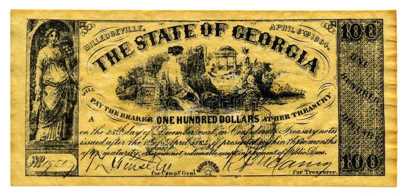 Dinheiro confederado imagens de stock