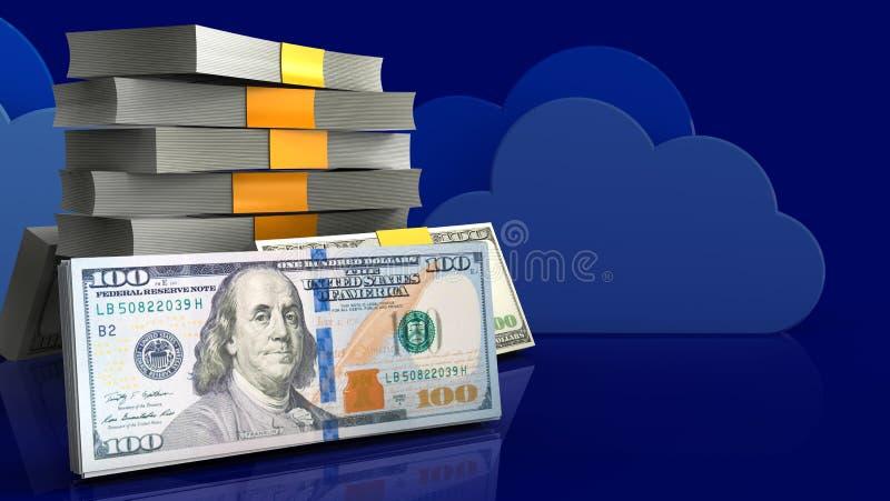 dinheiro 3d ilustração royalty free