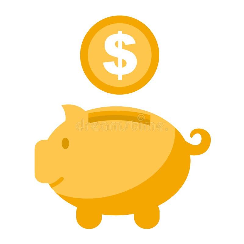 Dinheiro da acumulação, economias - vetor ilustração do vetor