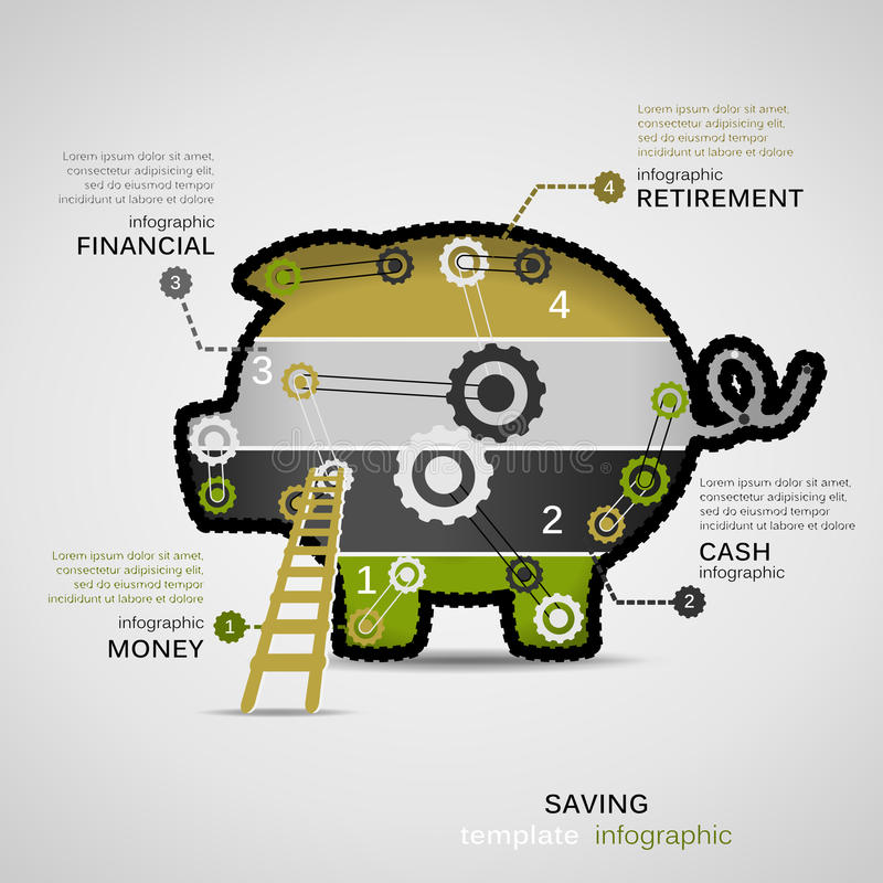 Dinheiro da economia ilustração royalty free