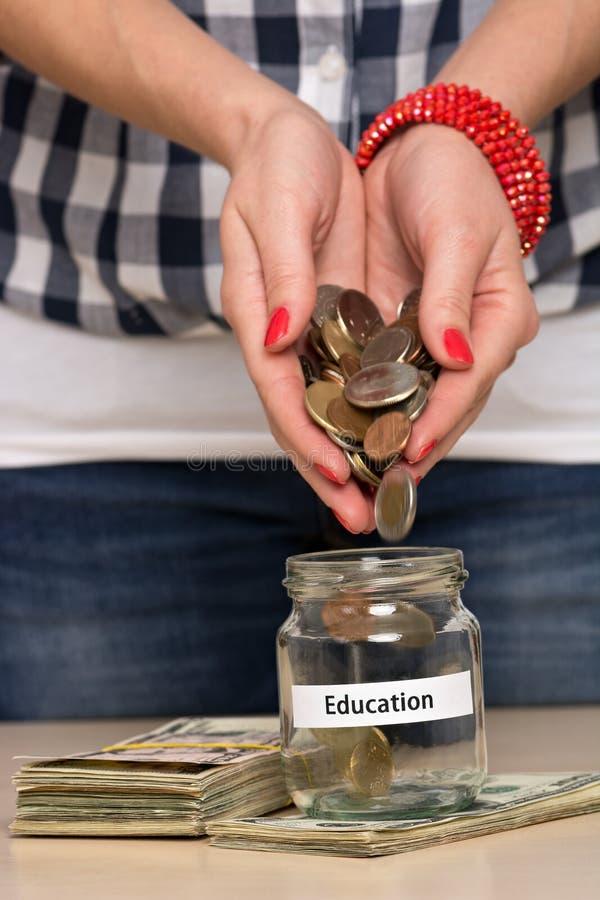 Dinheiro da economia para a educação fotografia de stock royalty free